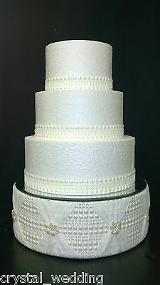 Pearls and Lace wedding cake display stand