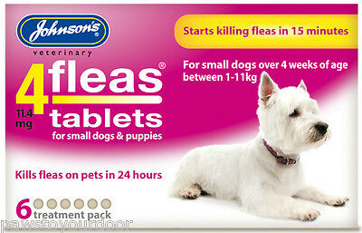Johnsons 4fleas Tablets Small Dog 6 Treatment Pack Flea Tablets