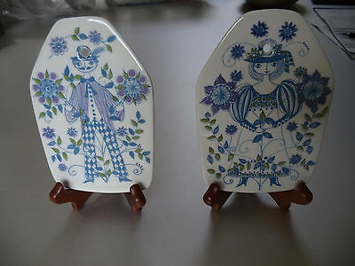 Lotte Norway Fiffjo Wall Plate Cheese Plate Man and Lady Pair
