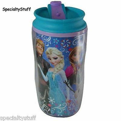 NEW DISNEY FROZEN KIDS 9.5oz TRAVEL TUMBLER PS DOUBLE WALLED ANNA ELSA OLAF (RE)