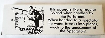 Breakaway Wand. Plastic, Black with White Tips, Gag and Comedy  (11611)