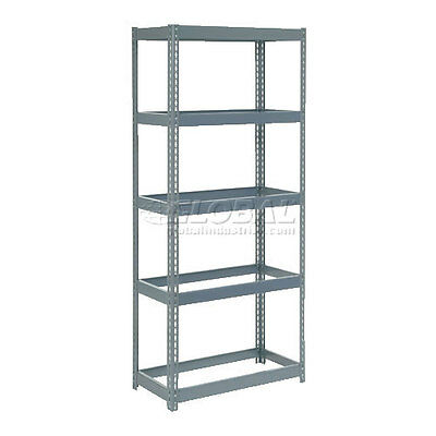 """Extra Heavy Duty Shelving 36""""W x 12""""D x 60""""H With 5 Shelves, No Deck"""