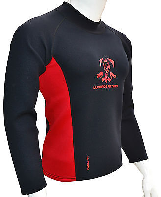 AQF Neoprene Sweat Shirt Rash Guard Sauna suit Weight Loss Slimming Top Men