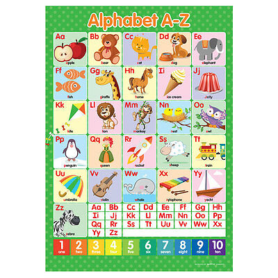 A2 Alphabet ABC's A-Z Poster English Educational Learning Teaching Resource