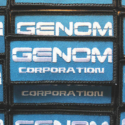 "one ""Genom Corporation"" Patch 1.5"" x 3.5"" cosplay inspired by Bubble Gum Crisis"