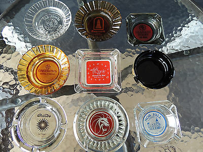 Vintage Lot of Las Vegas Ashtrays MGM Sands Castaways Nob Hill Westward Ho