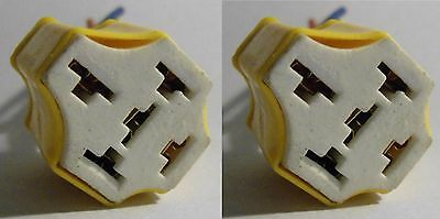 2 x Connector Socket Harness Ceramic Relay 5 Pin Ways Universal Heat Resistance