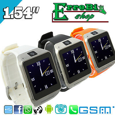 Smart Watch Gv08 Orologio Phone Camera Bluetooth Android Touch Screen Sim Gsm