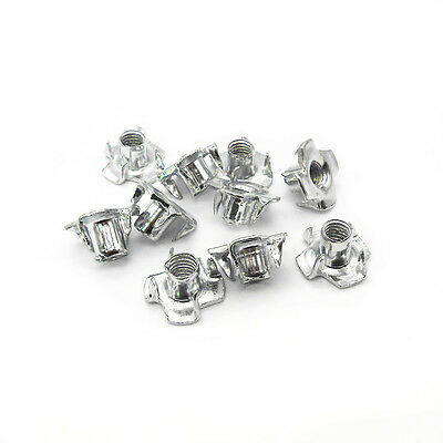 M3/M4/M5/M6/M8M10 Captive T Nuts Pronged Tee Nuts Blind Nuts Steel Zinc Plated