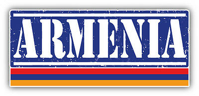 "Armenia Grunge Travel Stamp Car Bumper Sticker Decal 6"" x 3"""