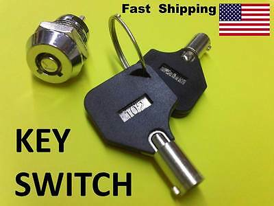 SWITCH ------ 1NO - 1NC ------ Key Switch with 2 keys barrel style 12MM - ON OFF