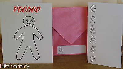 Voodoo Doll Card Greeting Gift unique fun weird crazy New Free Post Australia