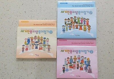 The World Folk Traditional Clothes Folding Paper Origami Kit Series 1,2,3