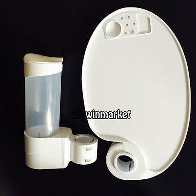 Dental Accessories 1 Disposable Cup Storage Holder + 1 Plastic Post Mounted Tray
