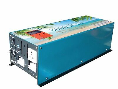8000W LF Pure Power Inverter DC 24V to AC 230V with Battery Charger/UPS/3.5''LCD
