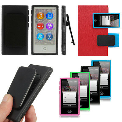 TPU Rubber Gel Soft Case Cover Skin & Belt Clip For Apple iPod Nano7 7th