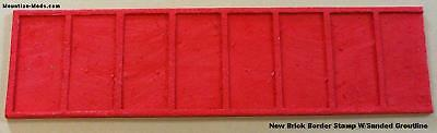 1 New Brick Border Decorative Concrete Cement Stamp Floppy Mat New