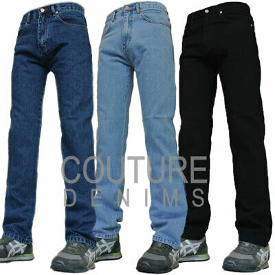Aztec Mens Jeans Heavy Duty Tough Regular Fit Straight Cut Normal Fitting Pants