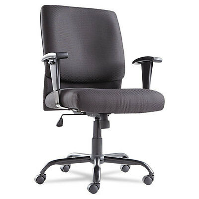 Big & Tall Mid-Back Swivel/Tilt Chair, Fabric, Black, Holds 450 lbs, OIF BT4510