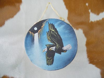 "Rawhide drums. Eagle,Hand painted mini 4""drum, Souvenirs, Crafts,Gifts,Decor,art"