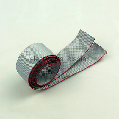 1M  26 Pin Gray Flat Ribbon Cable 1.27mm pitch AWG 28 for 2.54mm FC Connector