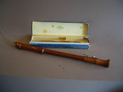 Vintage Original Heinrich German Blockflote Wooden Flute Recorder July 1951