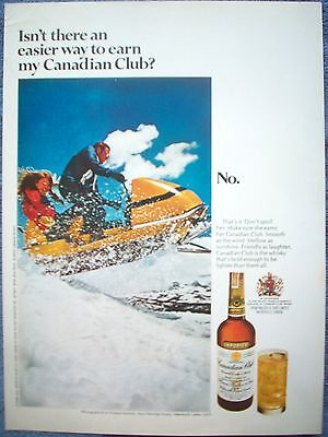 1970 Canadian Club Snowmobile Minaret Summit Inyo National Forest Mammoth Lakes