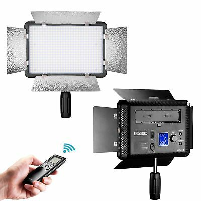 Neewer LCD Remote Control 500 LED Dimmable Video Light +Diffuser for Canon Nikon