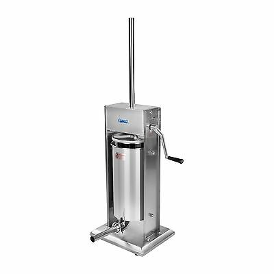 Sausage Filler Meat Mince Stuffer Stainless Steel 15 Litres 4 Nozzles/tubes New