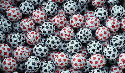 FOOTBALL / SOCCER BUBBLEGUM BALLS ⚽ 400g - Bulk kids party lollies - gum balls -