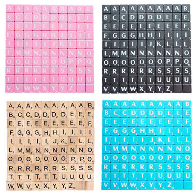 Scrabble Game Tiles Letters Puzzle Kids Board Pieces Craft Educational Family
