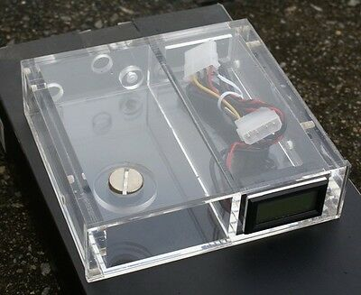 Q&Y  PC Water Cooling  CD Rom Water Tank W/Pointer Thermometer Flowmeter Pump