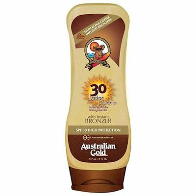 Australian Gold CREMA SPF 30 UPSIDE-DOWN + BRONZER 237ml - Water resistant
