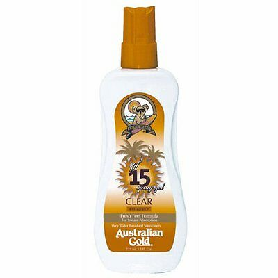 Australian Gold SPRAY GEL SPF 15 237ml - Water resistant