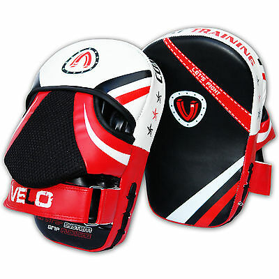 VELO Focus Pads Curved Mitts Hook and Jab Punch Bag Boxing Pad Muay Thai N8RB