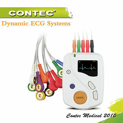 CONTEC 48H 10leads ECG / EKG Holter analisi software Elettrocardiogramma TLC6000