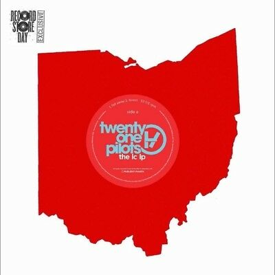 "Twenty One Pilots The LC LP RSD exclusive shaped red vinyl 7"" shaped disc"