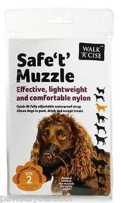 Dog mesh muzzle safe 't' muzzle from Sharples'n'Grant all sizes