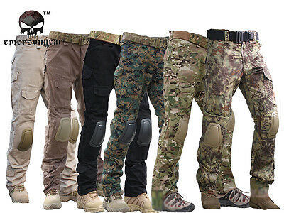 Tactical Pants with Knee Pads, Emerson Gen2 Camping Hiking Hunting Trousers CP