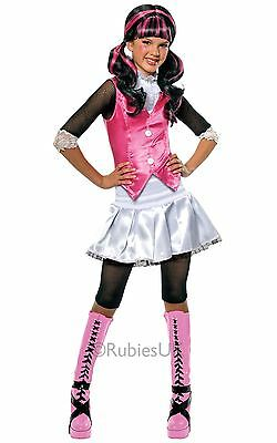 Girls Draculaura Monster High Vampire Vampiress Kids Fancy Dress Costume Outfit