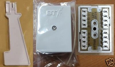 Genuine BT78a 4 Pair Junction Box for Telephone Cable Data Alarm Cat5 + IDC TOOL