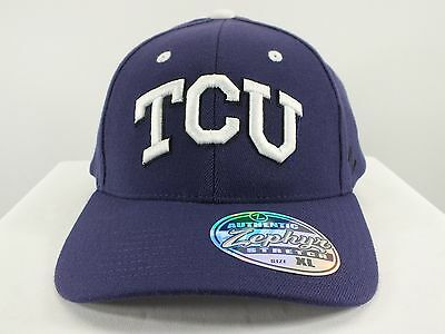 Tcu Horned Frogs Ncaa Flex/fitted Hat (Xl, M/l) Size New Cap By Zephyr (D43)