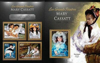 CA13115ab Central Africa 2013 Mary Cassat MNH SET **