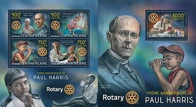CA13514ab Central Africa 2013 Paul Harris MNH SET **