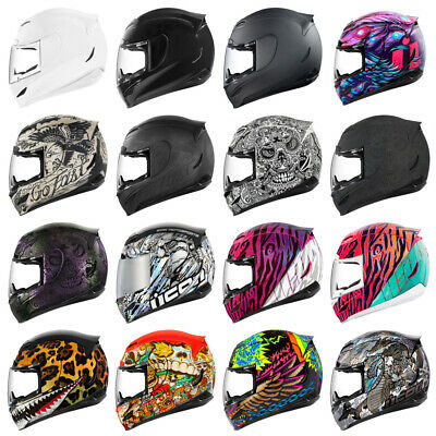 Icon Airmada Full Face Motorcycle Motorbike Crash Helmet | All Graphics + Sizes
