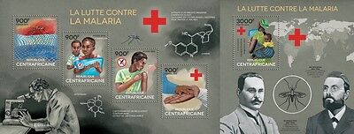 CA14319ab Central Africa 2014 Malaria MNH SET **