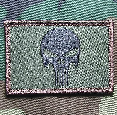 Punisher Skull Forest Usa Army Us Military Tactical Us Velcro Morale Badge Patch