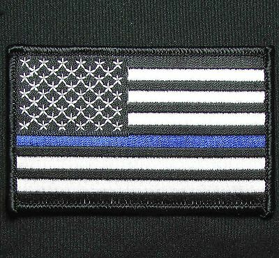 Usa American Flag Tactical Usa Army Morale Police Thin Blue Line Velcro Patch