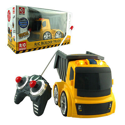 4Ch Rc Construction Dump Truck Radio Remote Control Car Kids Baby Music Led Toy