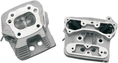 S S Cycle Silver Cylinder Heads for Evolution EVO w/ Stock Style 106-3466
